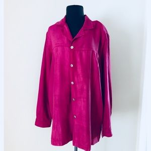 ❗️Nordstrom Pink Suede Like Button Down MSRP $98